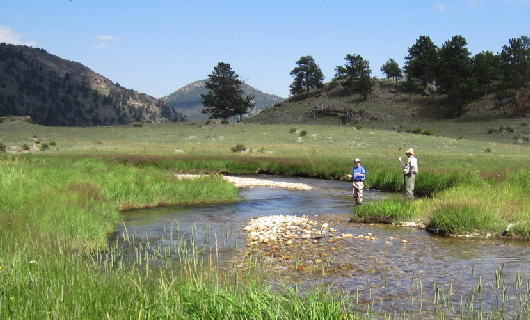 RMF Youth Camp experience fishing on the Big Thompson in Moraine Park of the Rocky Mountain National Park