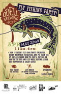 Odell Fly Fishing Party Poster