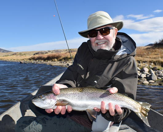 "Fall fishing with Bob Green on ""The Mile."""